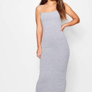 TOPSHOP Gray Spaghetti Strap Cami Maxi Dress NWT